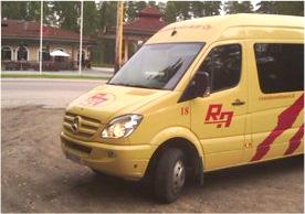 Rautalammin Auto Oy bussin sisätilat